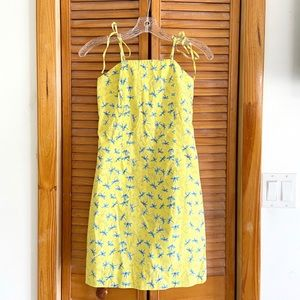 Vintage Lilly Pulitzer Yellow Dragonfly Mini dress